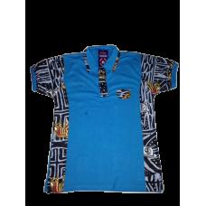 Polo Bleu Africain