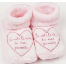 Chaussons brodes pour bebe