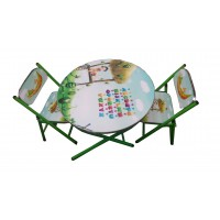 Child study of table and chair