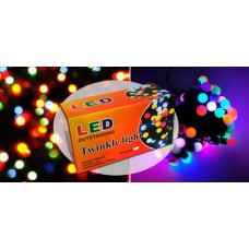 String of 50 Multi-colour Twinkle LED Lights