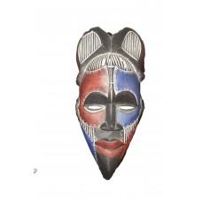 Masque africain primitif Ndame en bois