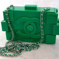Chanel Green Lego Bag