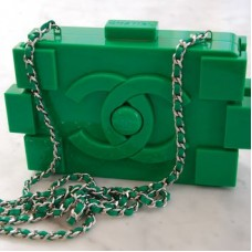 Chanel Green Lego Bag