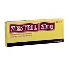 zestril 20mg comprime boite-28