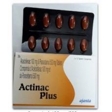 ACTINAC PLUS 100 mg 500 mg Cp Boite de 20