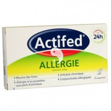 Actifed Allergie 7 Comprimes 10mg