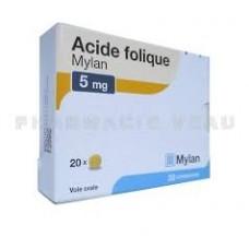 ACIDE FOLIQUE CRE 5MG 5-20