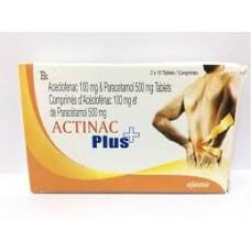 ACTINAC PLUS 100 mg 500 mg Cp Boite de 10