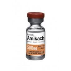 Amikacine mylan 500 mg, poudre pour solution injectable, boîte de 20 flacons de poudre + ampoules de solvant de 4 ml
