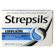 strepsils lidocaine pastilles boite 24