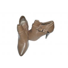 women's shoe with heel  boutille / brown / with a gold buckle on the side / size 40