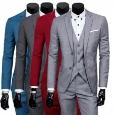 COSTUME-VESTE Suit VIP Men-wedding-suit-3-pieces with shirt and knot