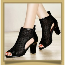 Guciheaven 7949 Black Casual Women Sandals High Heels