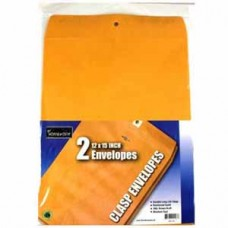 A Homework 12x15 Clasp Envelopes Wrapped-2-pack