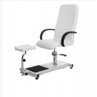 Pedicure armchair with footstool