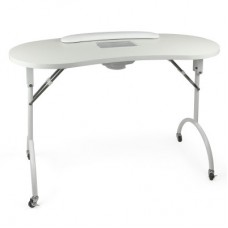 Folding manicure table with vacuum cleaner