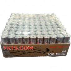 100-Pack AA Alkaline Gold Batteries