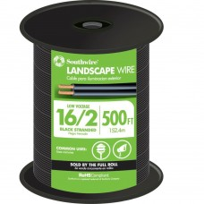 Southwire 500 ft. 16/2 Black Stranded CU Landscape Lighting Cable