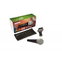 Shure Microphone PGA48 with Liberty Microfiber Cleaning Cloth (XLR-XLR Cable)