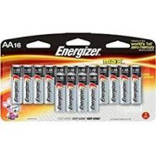 16 Batteries Alkaline AA, Energizer Max