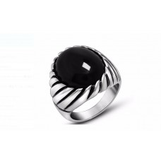 MEN S RING - ONYX BLACK STONE