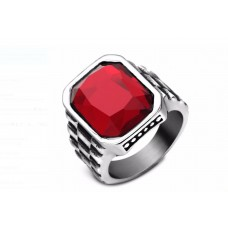 MEN S RING - RED STONE