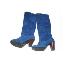 chaussure de femme fermée  montante  de couleur bleue