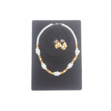 Crystal bead and necklace set