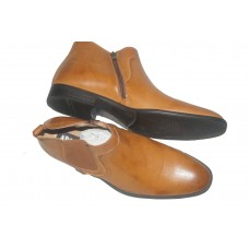 man shoe in baking - brown color